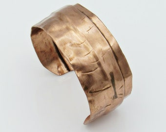Small Hammered Copper Cuff Bracelet, Hand Forged Jewelry, Copper Jewelry, Copper Bracelet