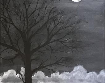 Original watercolor 11x14 made on canvas