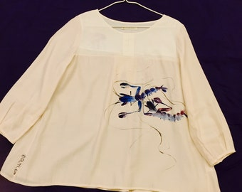 Hand-painted Blouse silk