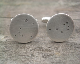 Canis Major and Pleiades Constellations Cuff Links by donnaodesigns