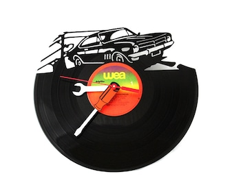 Record Clock Monaro Rev Head Muscle Car Record Clock Recycled