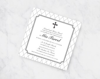 Classic Christening Invitation