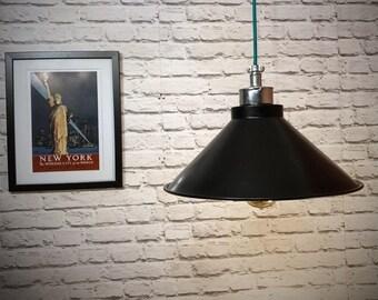 Hand made industrial 380mm black pendant light