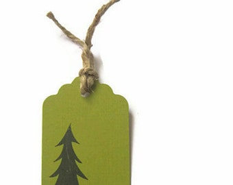 Woodland Pine Tree Gift Tags, XL Pine Tree Tags, Woodland Tags, Pine Tree tags, Rustic Gift Tags, Fall trends