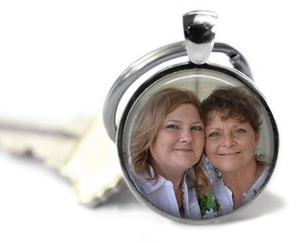 Custom Round Photo Keychain