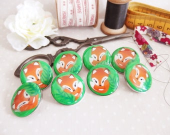 Button handmade Fox (sold separately)