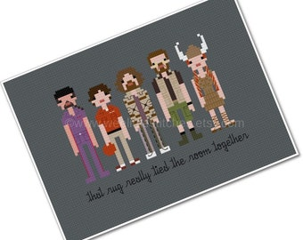The Big Lebowski - The *Original* Pixel People - PDF Cross-stitch Pattern - INSTANT DOWNLOAD