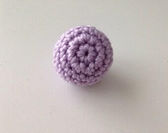 Perle purple wood hook 1.6 cm