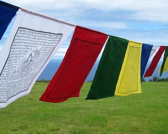 Tibetan Prayer Flags - 6 x 4, Meditation, Sacred Space, Prayer, Tibet