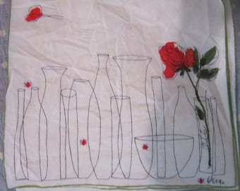 vera neumann placemats lady bugs roses vases adorable set of 4