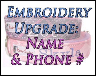 Embroidery Upgrade: Name & Phone Number