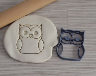 Owl cookie cutter - Cute Owl Cookie cutter - Bird cookie cutter - cookie cutter - Cake design - Sugar paste cutter - Fondant Cutter