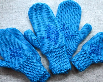 Knitting Pattern: Anna's Frozen Mittens Snowflake Gloves in Women's, Girls' and Toddler Sizes Inspired by Frozen