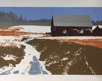 Fallow Fields - Original Serigraph Print
