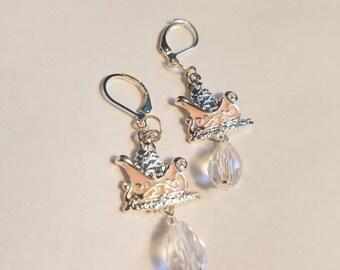 Crystal Sleigh Ride Earrings