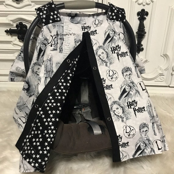 Harry Potter car seat canopy , READY TO SHIP , last one
