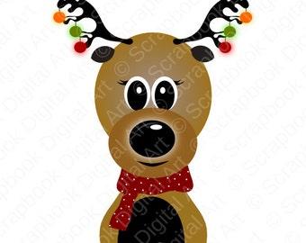 Reindeer Clip Art, Reindeer Clip Art, Reindeer clipart. Santas Reindeer Clip Art, Navidad, Reno Navidad.