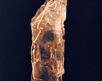 Rare Red Selenite in the rough