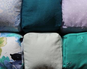 6 Handmade Fabric Building Blocks