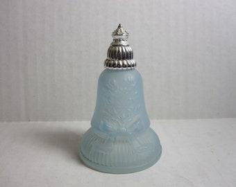 Rare Vintage Avon Perfume Decanter Bell Blue Frosted Glass Empty Avon Perfume Bottle