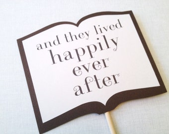 Happily Ever After Storybook Sign - Wedding Photo Booth Props - Wedding Reception
