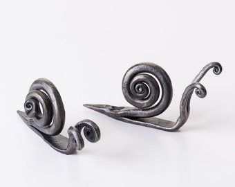 Metal Snail Hand Forged Ornament