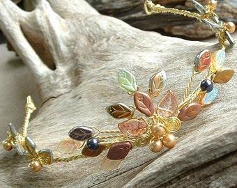 Queen Titania Tiara Gold Fairy Crown