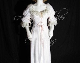 Chemise à la Reine 18 century Marie Antoinette dress historical correct model - undergarment 18 th - camicia donna sottoveste
