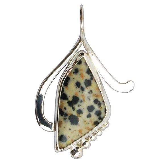 Dalmatian Jasper Pendant Set in Sterling Silver  pdalf2706