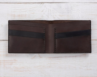 Mens Leather Wallet, Compact Wallet, Brown Wallet, Minimalist Wallet, Leather Wallet, Mens Personalized Wallet, Card Wallet, Bifold, Wallet