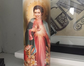 St Carrie Fisher Prayer Candle
