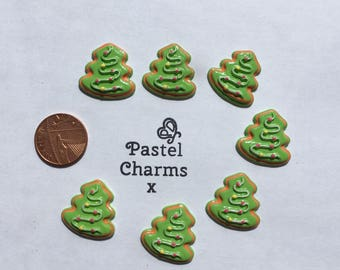 Pack of 5 christmas tree cookie embellishments