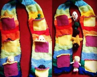 Crochet Nursery Rhyme Scarf