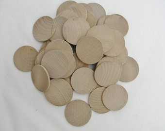 "50 Wooden 1.75"" Circles, wooden disc 1 3/4""  x 1/8"" thick unfinished DIY"