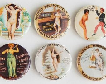 Naked Woman Fridge Magnet Set