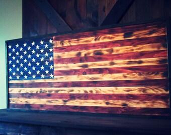 USA Sign. Flag Sign. Framed USA flag Sign. Wood Flag Sign. Wood USA Decor.