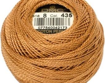 DMC 435 Perle Cotton Thread   Size 8   Very Light Brown