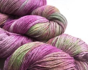 Dahlia Baby Alpaca Silk Cashmere Sock Yarn 400m