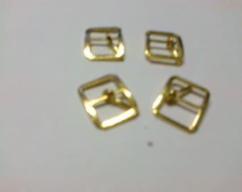 Set of 4 + 1 loop brass passage 0.8 cm * BO131 *.