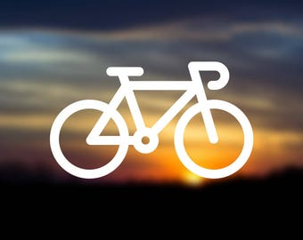 Bike Icon Vinyl Decal | Water Bottle Decal | Car Window Decal | Laptop Decal