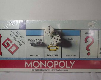 Vintage SEALED 1961 Monopoly Board Game ~ Collectible Game ~ Retired Game