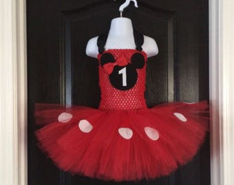 Minnie Mouse~Inspired Tutu Dress