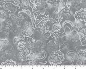 "White Filigree Novelty-Choice Fabrics-BTY-108"" Wide"