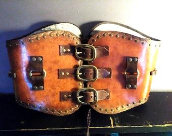 "Steampunk /Renaissance /Vintage mini-corset (31""-35"" waist)"