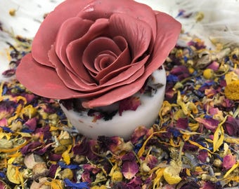 Rose Petal Detergent free goat milk shaped soap rose scented PRE ORDER