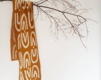 ARCHES scarf wrap merino wool knit