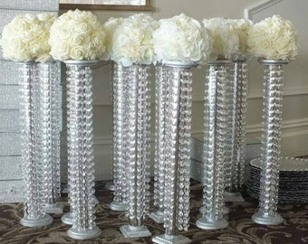 Set of 10 tall Chandelier centerpieces