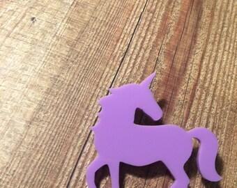 Super Fantastic Magical Unicorn Brooch. Unicorns Rock. Unicorns Rule. I love Unicorns. Handmade Brooch. Unicorn Badge. Fun Badge. Whimsy.
