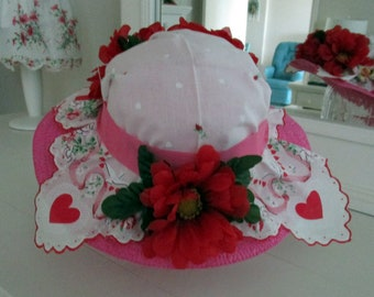 Love Tea Party Hankie Hat