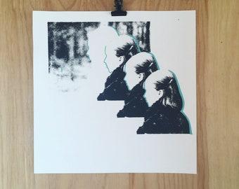 Screenprint // Black & Blue